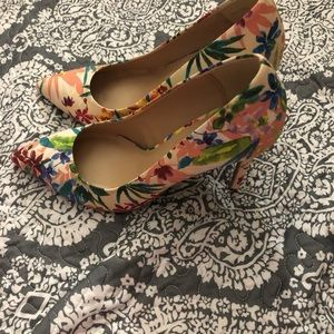 Le Chateau floral high heels